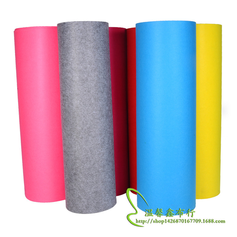 thảm lông Vải không dệt màu 2 mm không dệt polyester mềm mại châm cứu không dệt nỉ nhà sản xuất bán