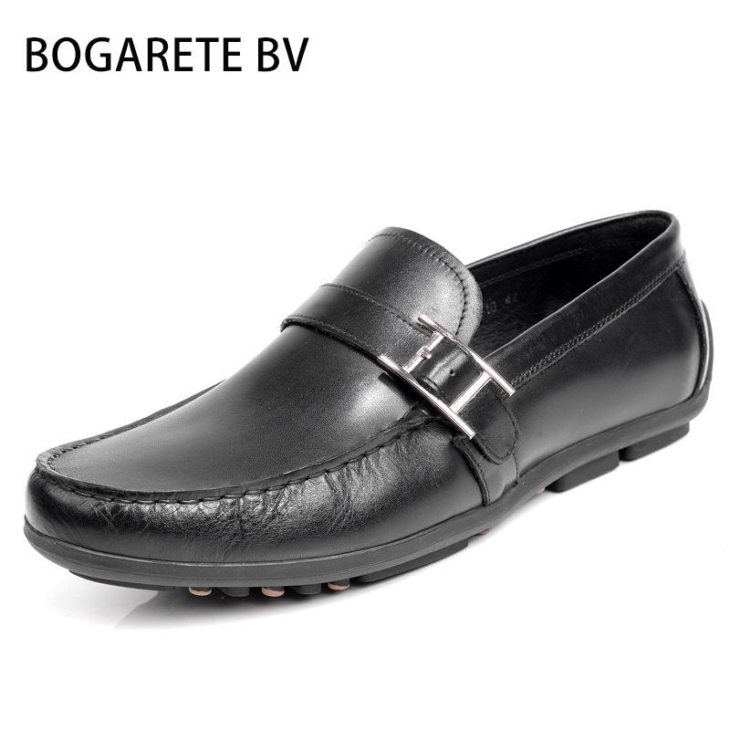 BOGARETE BV - Giày mọi đế thấp Bằng Da cho Nam