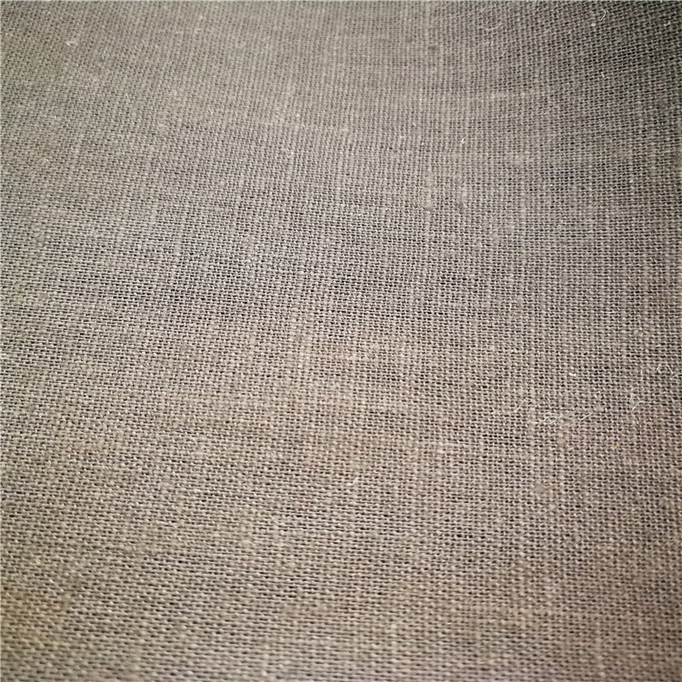XINSHIJI Vải mộc pha Nhà sản xuất vải màu xám vải lanh pha trộn vải màu rắn