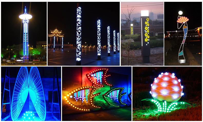 Đèn LED chiếu sáng sân vườn ngoài trời , dành cho các công viên .