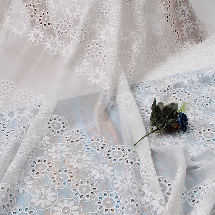 Vải thêu 2018 mới organza thêu vải ren lưới vải thêu vải quần áo váy cưới váy vải tùy chỉnh