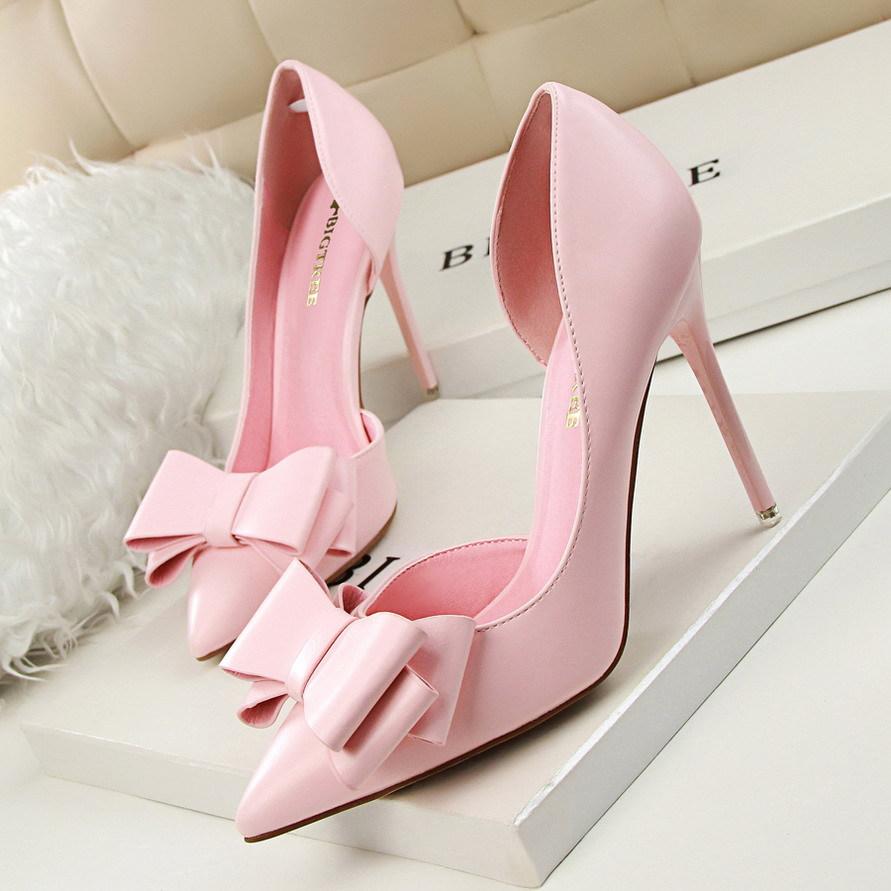 Giày cao gót da một lớp Thời trang Hàn Quốc  3168-2