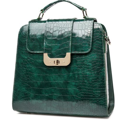 Qi Wang Túi xáchFlag King thương hiệu túi xách cá sấu mẫu 2018 mới không khí thời trang túi xách da
