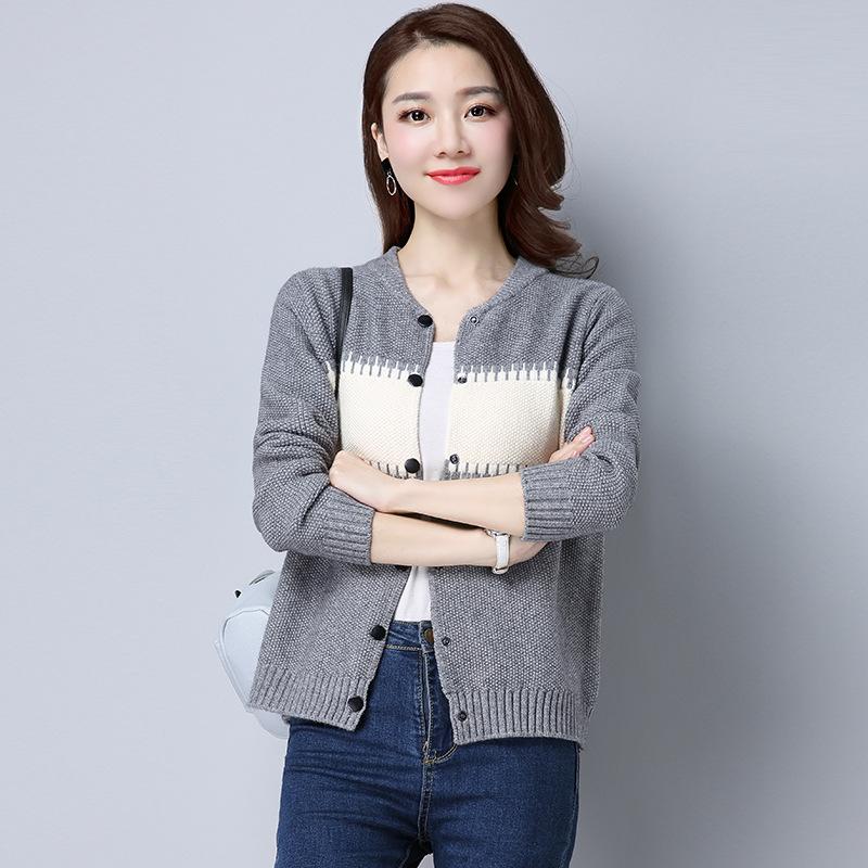 Áo khoác Lửng Vải len Tay dài kiểu cardigan