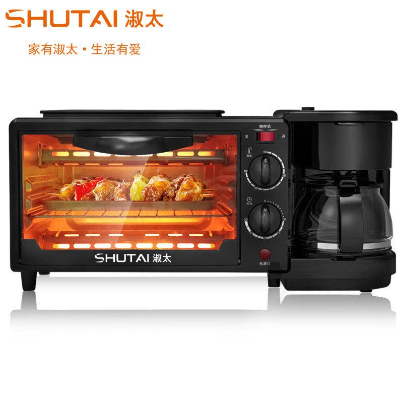 SHUTAI Lò vi sóng, lò nướng Shu cũng có máy ăn sáng lò nướng điện mini lò nướng bánh mì máy pha cà p