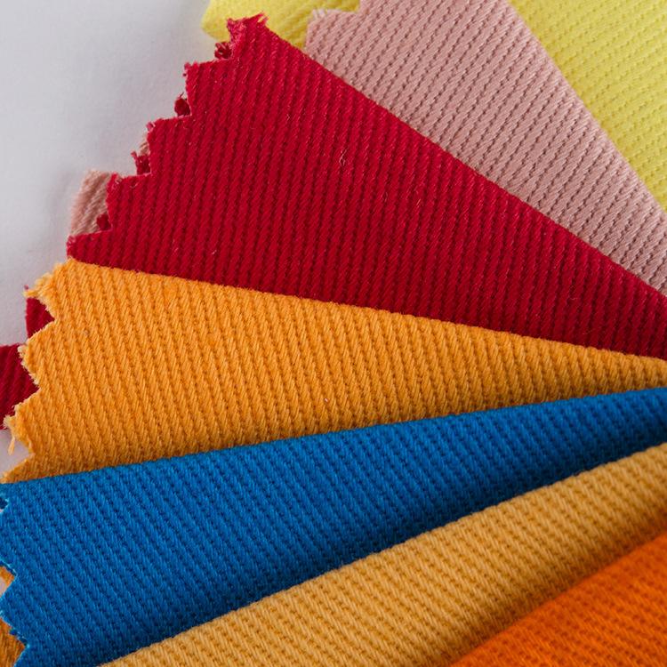 V ải Twill Sợi thẻ cotton 10856 vải chéo 16 * 10 sợi dày thẻ áo khoác thông thường quần dệt vải bán