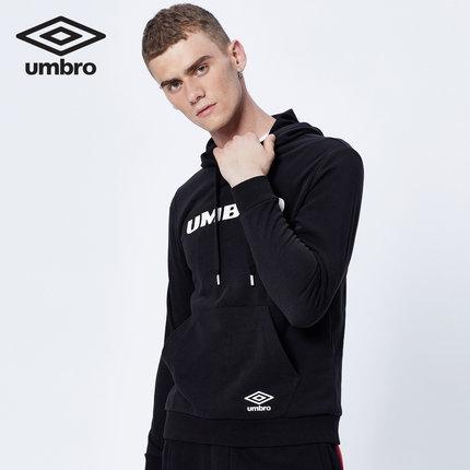 Áo Hoodie nam dài tay mũ trùm màu đen Umbro