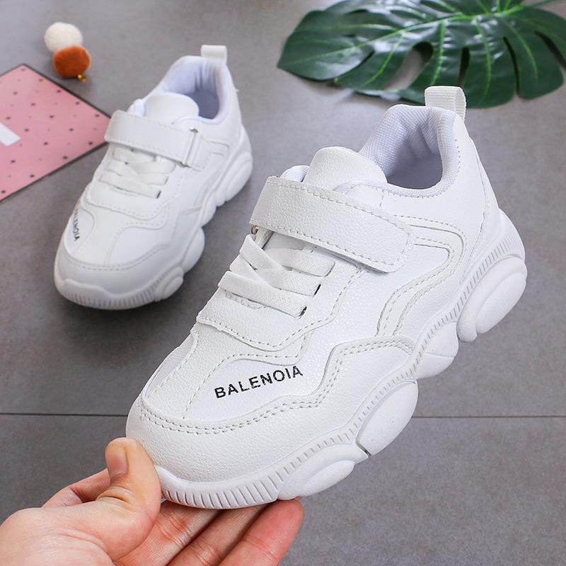 Giày thể thao trẻ em cho bé trai và gái , màu Trắng ,nguồn quảng châu .