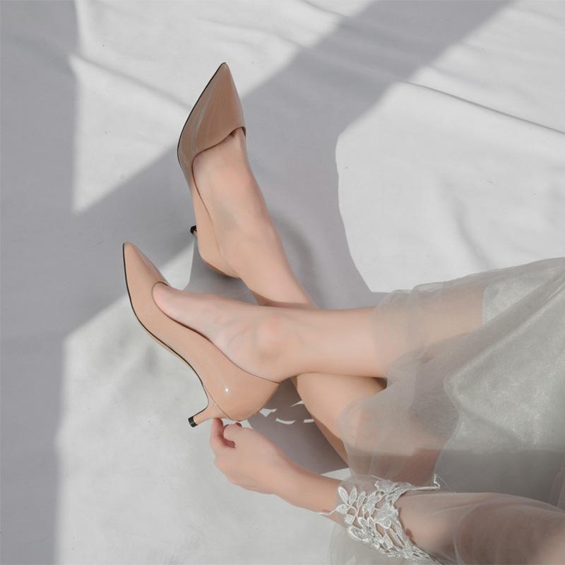 Giày cao gót da Thời trang Hàn Quốc cho Nữ .
