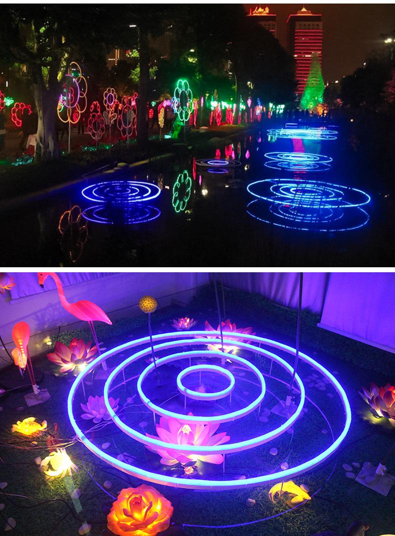 Đèn LED âm nước LED đèn trang trí đã được sáng tạo ra thấm nước ao hồ sen hồ cảnh quan công viên đèn