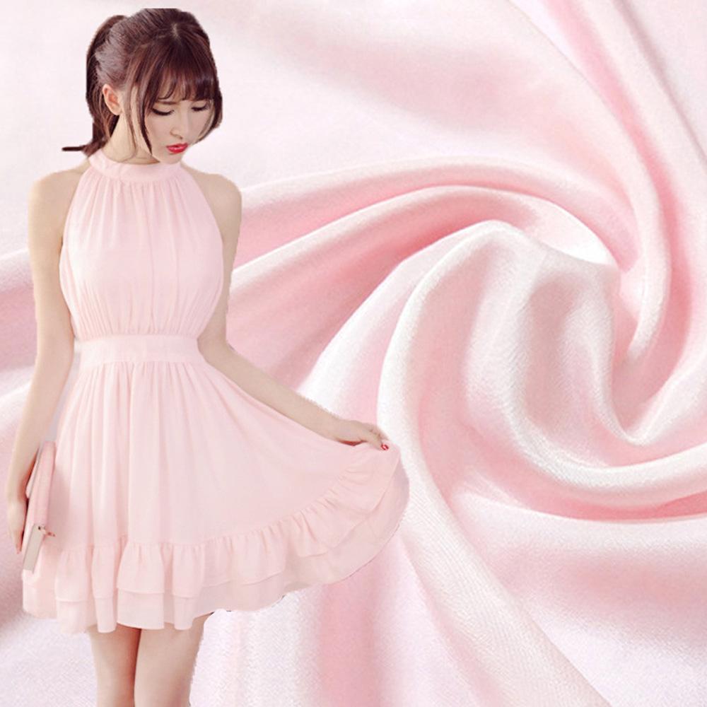 CAIYAXUAN Vải Polyester Mô phỏng lụa đôi vải voan polyester không thấm hoa Yao 绉 vải nhăn đôi mùa xu
