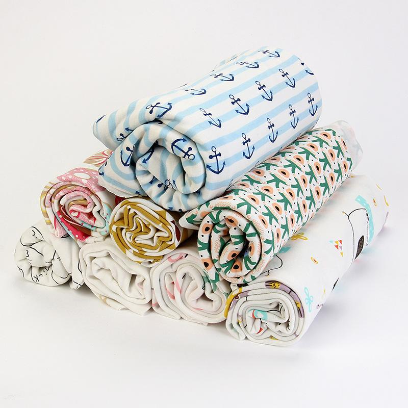 JIABAO Vải dệt kim Cotton bé đan vải đôi hoạt hình in vải dệt kim sơ sinh vải cotton tự nhiên bán bu