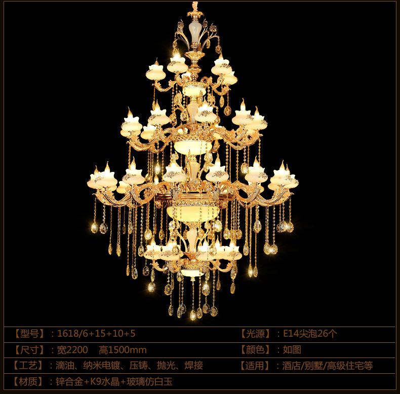 Bóng đèn nến Thành phố lịch sử châu Âu hợp kim kẽm đèn Ngọc Cao ốc tầng kỹ thuật nến đèn phòng khách