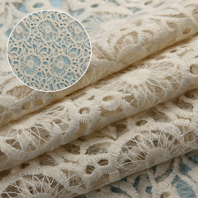 Vải thêu Nhà máy trực tiếp dệt vải thêu lưới thêu