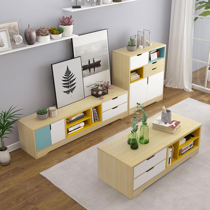 Nội thất Phòng khách Tủ tivi - bàn cà phê Bằng gỗ thiết kế hiện đại
