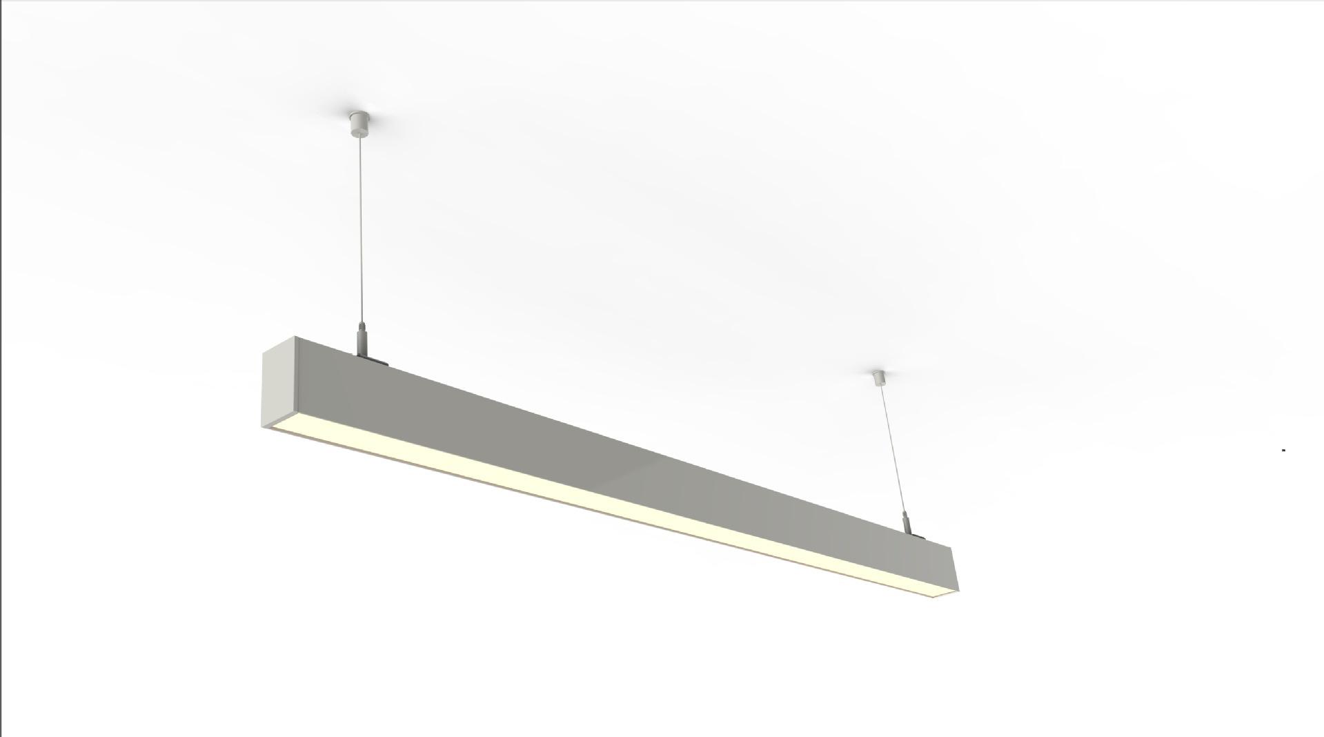 Bóng đen LED âm trần Lumbency 2.26 mét 72W khảm đậu tuyến tính hiện đại gắn đèn 107-R PMMA điều khiể