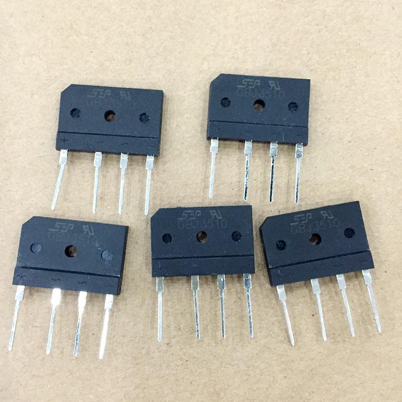 SEP Linh kiện điện tử Cầu chỉnh lưu xếp chất lượng cao GBJ3510 siêu mỏng an toàn ổn định cầu chỉnh l