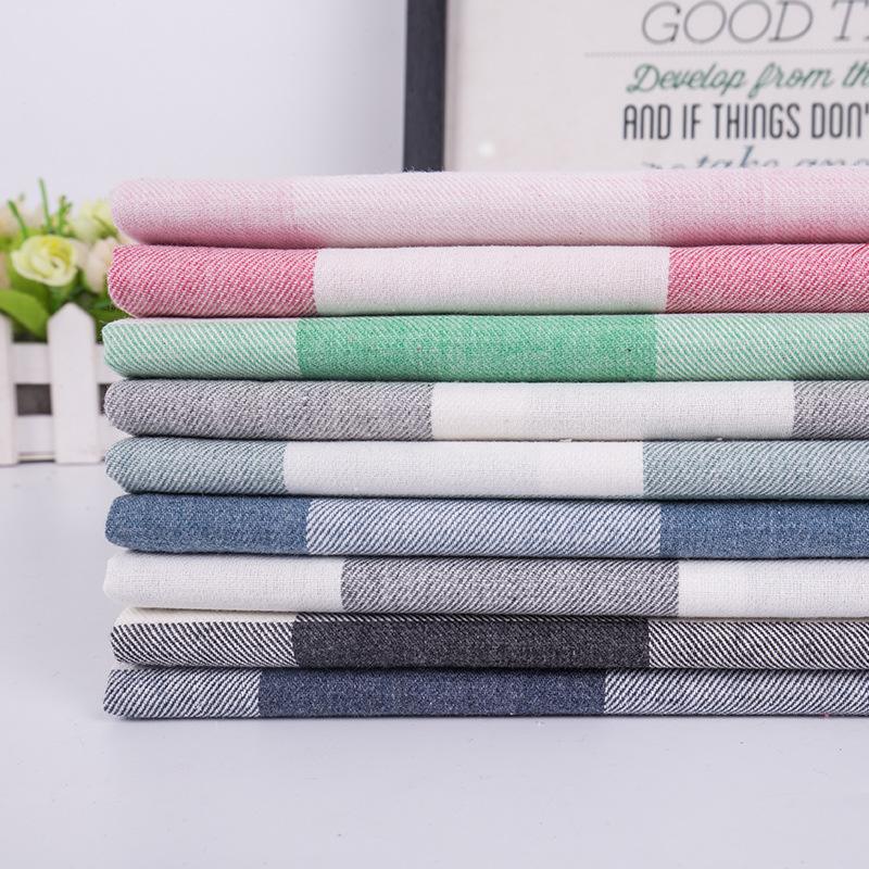 Vải Yarn dyed / Vải thun có hoa văn Nhà máy trực tiếp cotton dệt vải kẻ sọc hiện đại tối giản áo sơ