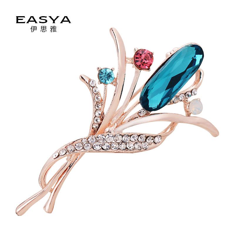 YISIYA Phụ kiện thời trang Mô hình vụ nổ Hàn Quốc trâm hoa kim cương thời trang trâm kim pin phụ nữ