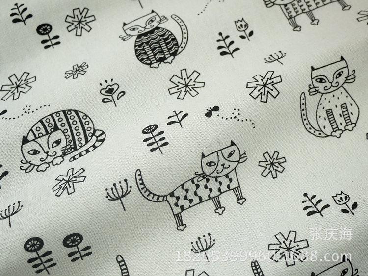 Vải Hemp mộc Nhà máy trực tiếp vải lanh vải lanh in thương mại nước ngoài vải lanh Nhật Bản vải nền