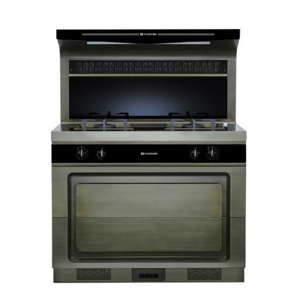 Pusen Bếp từ, Bếp hồng ngoại, Bếp ga Bếp tích hợp Pusen Yuedi bằng đồng sang trọng mẫu bên hút hàng
