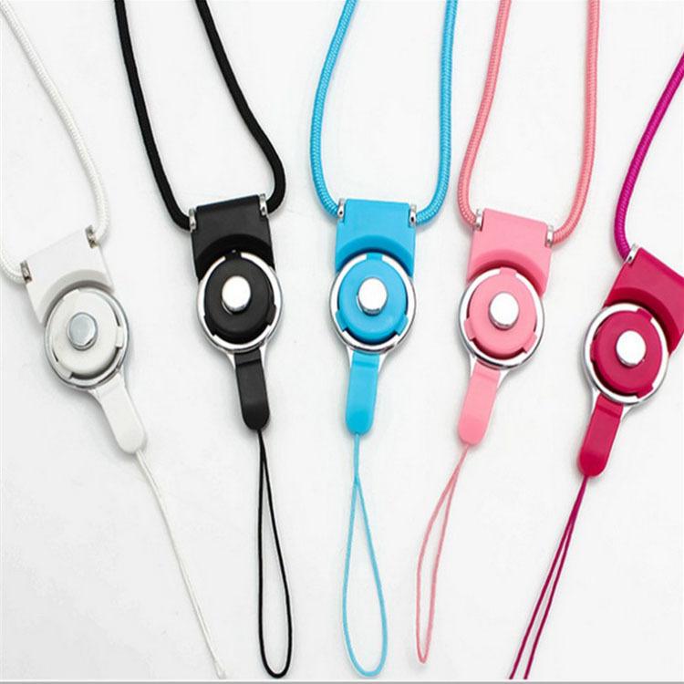dây đeo Điện thoại di động dây buộc có thể tháo rời quay khóa dây dài ID dây buộc hình xuyến đa chức