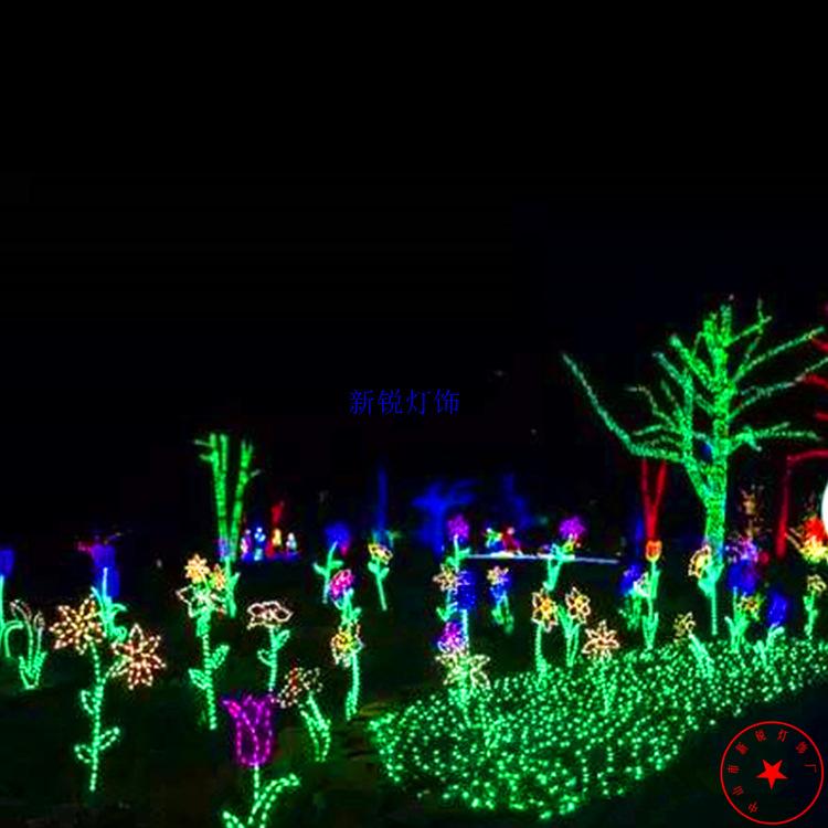 Đèn pha chiếu sáng đường hầm Màn trình diễn ánh sáng đèn trang trí cảnh quan đặc biệt thời gian ánh