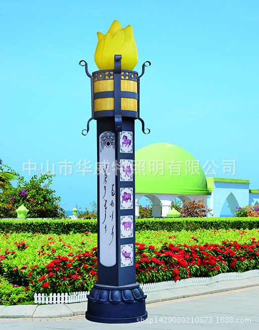 Đèn LED đèn đường cảnh quan ngoài trời kiểu Trung Quốc