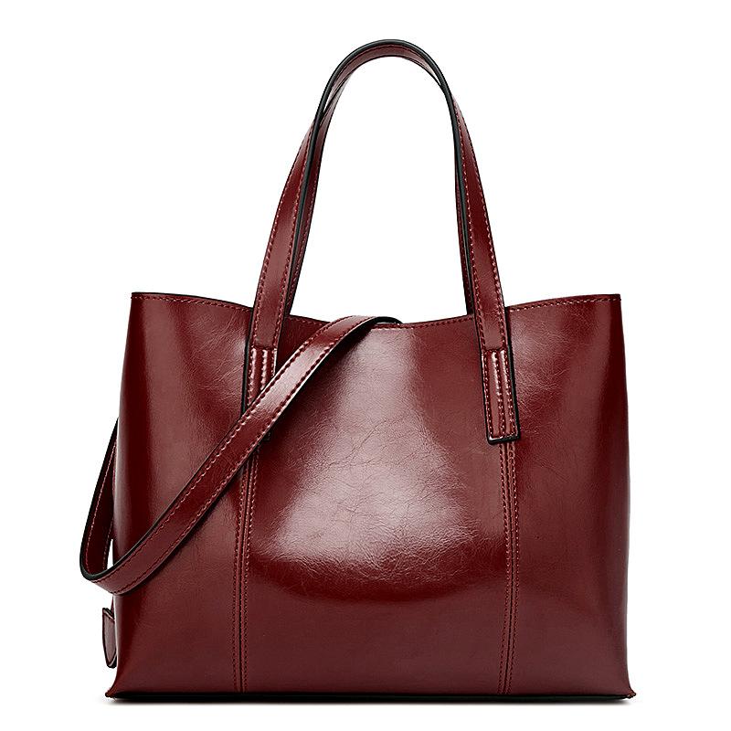 Túi xách da mềm thời trang phong cách châu Âu