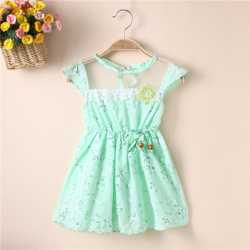váy đầm hoa dành cho bé gái .