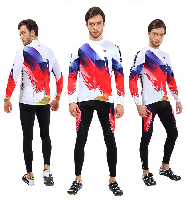Trang phục Đua xe đạp : Quần áo thun Ôm co giãn dành cho Nam .