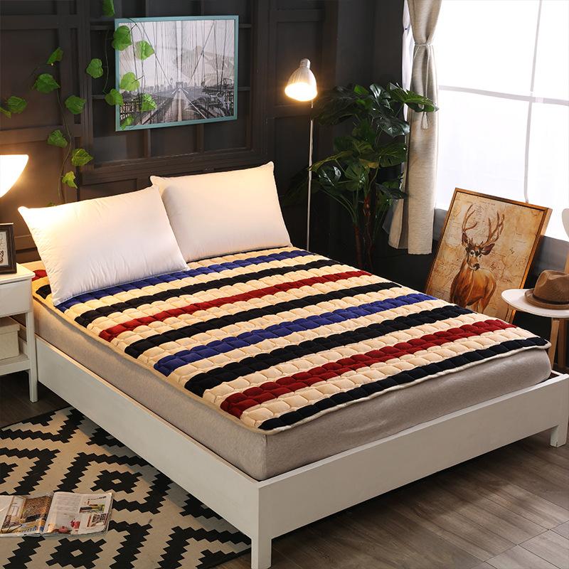 LINLANXIN Thị trường chất lượng sản phẩm Giường nệm flannel Giường đơn nệm nệm mùa đông ấm áp cộng v