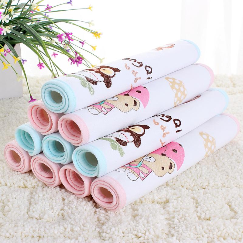 LQBB Tấm lót chống thấm (hai giá) terry vải cách nhiệt bông thấm nước thoáng khí sản phẩm em bé pad