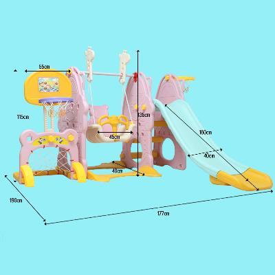 bộ Cầu trượt kèm xích đu cho Trẻ trong nhà và bên ngoài có thể tháo rời .