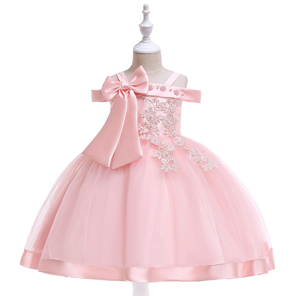 MQATZ Trang phục dạ hôi trẻ em Cô gái bán buôn váy một vai váy công chúa phồng váy dự tiệc trình diễ