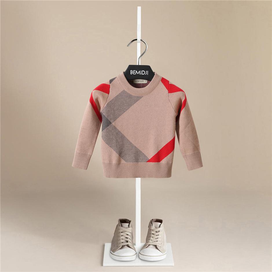 BEMIDJI Áo dệt kim trẻ em Bán buôn Vụ nổ Trẻ em Mặc Thời trang Trẻ em Bé trai Áo len Trẻ em Thương h