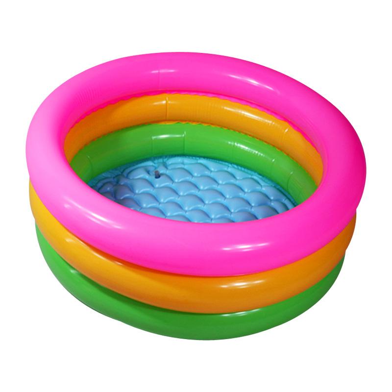 SHUYANG bể bơi trẻ sơ sinh Nhà máy trực tiếp vòng ba màu ba vòng trẻ em bể bơi bơm hơi trẻ em PVC dà