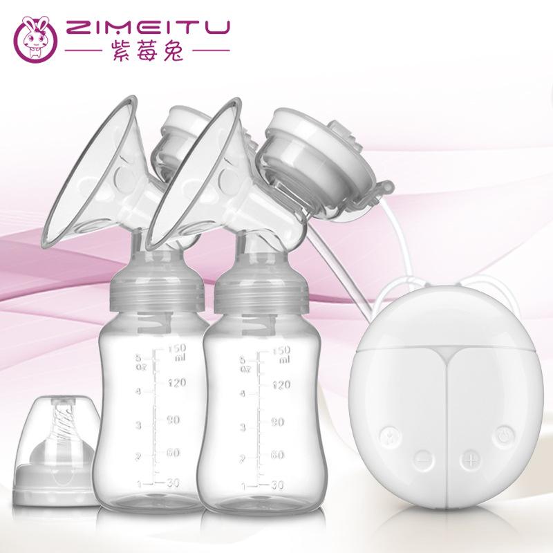 ZIMEITU Thị trường đồ dùng mẹ và bé Purpleberry thỏ song phương máy hút sữa bơm sữa hút sữa massage
