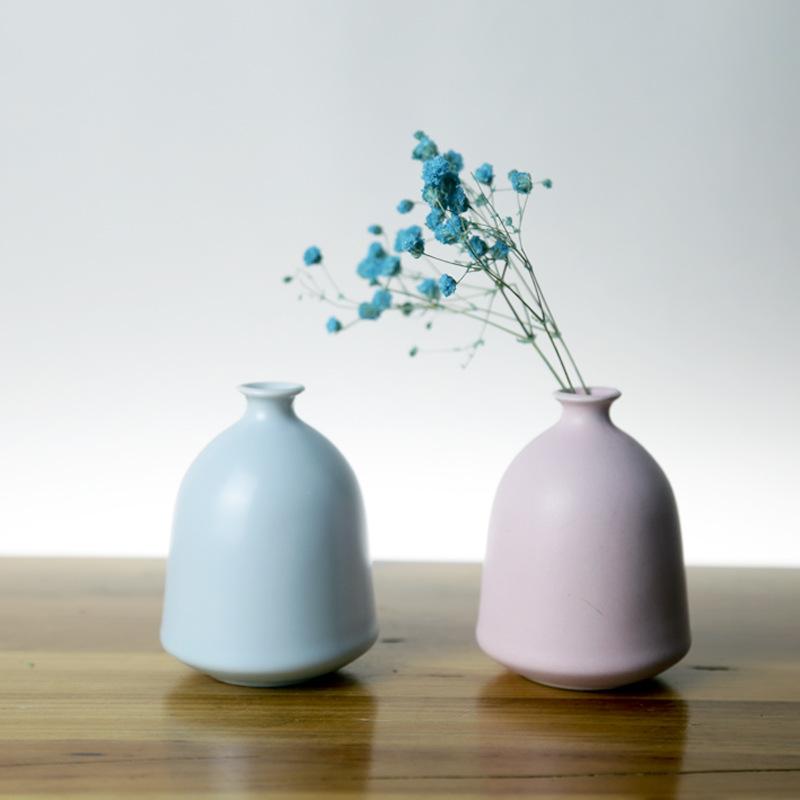 Đồ trang trí bằng gốm sứ Hoa Bắc Âu chèn bình gốm thủ công trang trí sáng tạo Trang trí nhà đơn giản