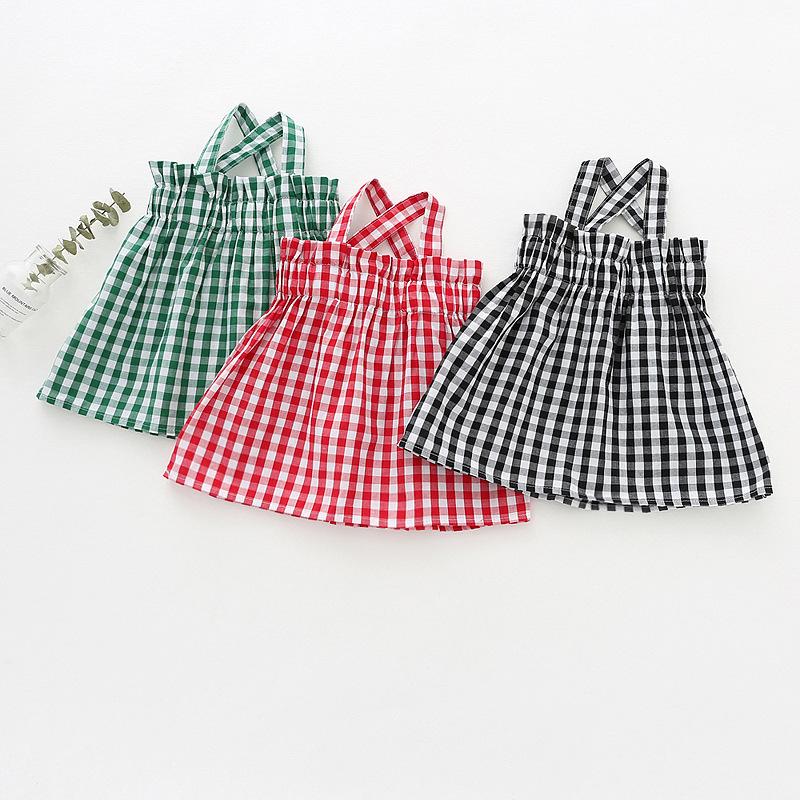 Dudu cream Áo ba lỗ / Áo hai dây trẻ em Mùa hè 2018 mới cho bé gái áo thun kẻ sọc nữ bé cotton Hàn Q