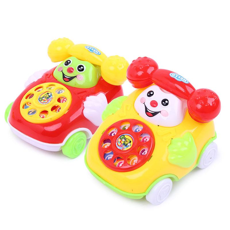 QIANJIE Đồ chơi sáng tạo Sáng tạo kéo dây cười nhỏ mô phỏng điện thoại đồ chơi trẻ em chơi nhà Nghĩa