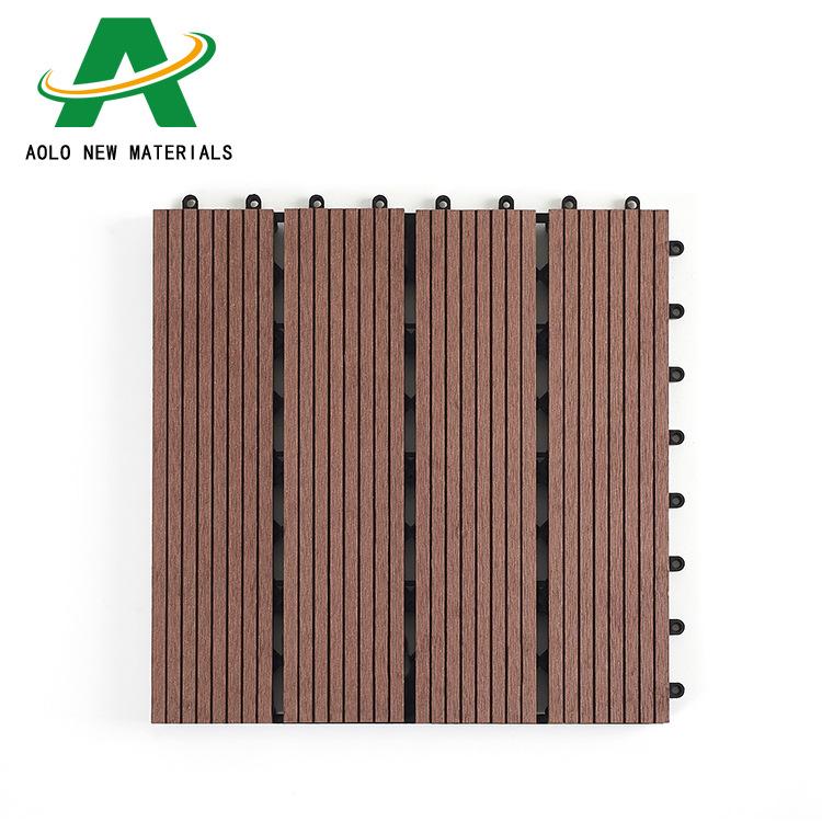 Vật liệu xây dựng : Tấm ván Lót Sàn gỗ bằng nhựa cho Ban công , sân vườn .