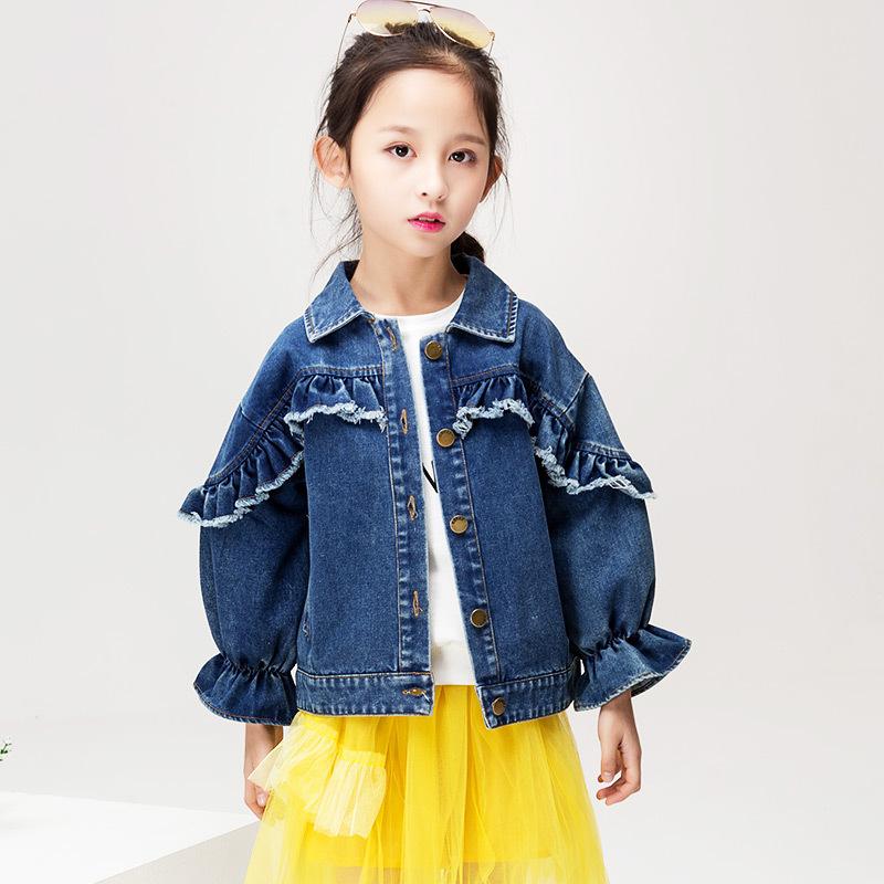 Áo khoác trẻ em Mùa xuân áo khoác nữ bán buôn trực tiếp mùa xuân Phiên bản trẻ em Hàn Quốc mặc một t