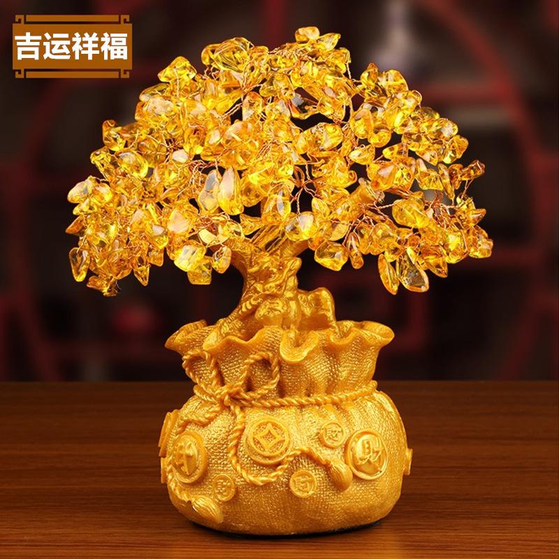 MUXIN Đồ trang trí bằng gốm sứ Nhà máy trực tiếp trang trí đồ trang trí gốm cây giàu có / quà tặng k