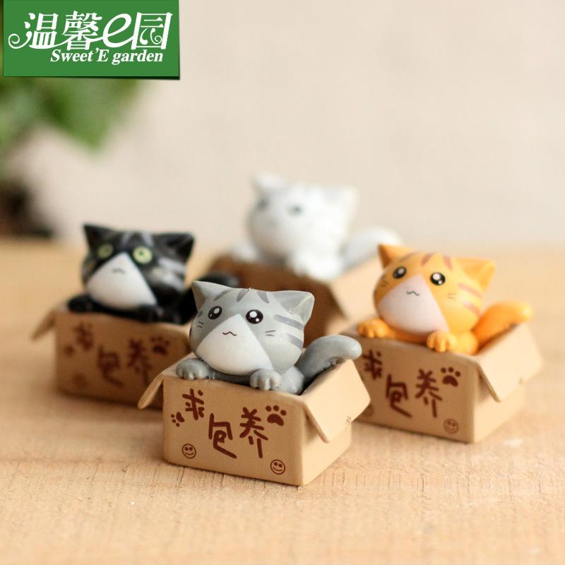 WENXIN E YUAN Cảnh quan Mini Nhà máy trực tiếp, tìm kiếm nhà tư nhân mèo, mèo con, búp bê, đồ trang