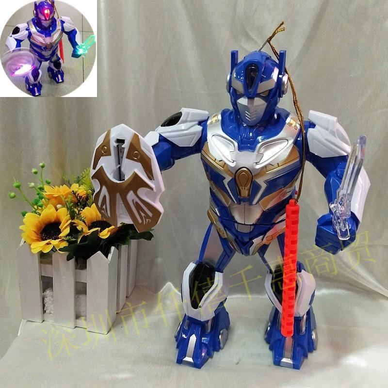 Lồng Đèn pin trung thu hình chiến binh robot cho bé.