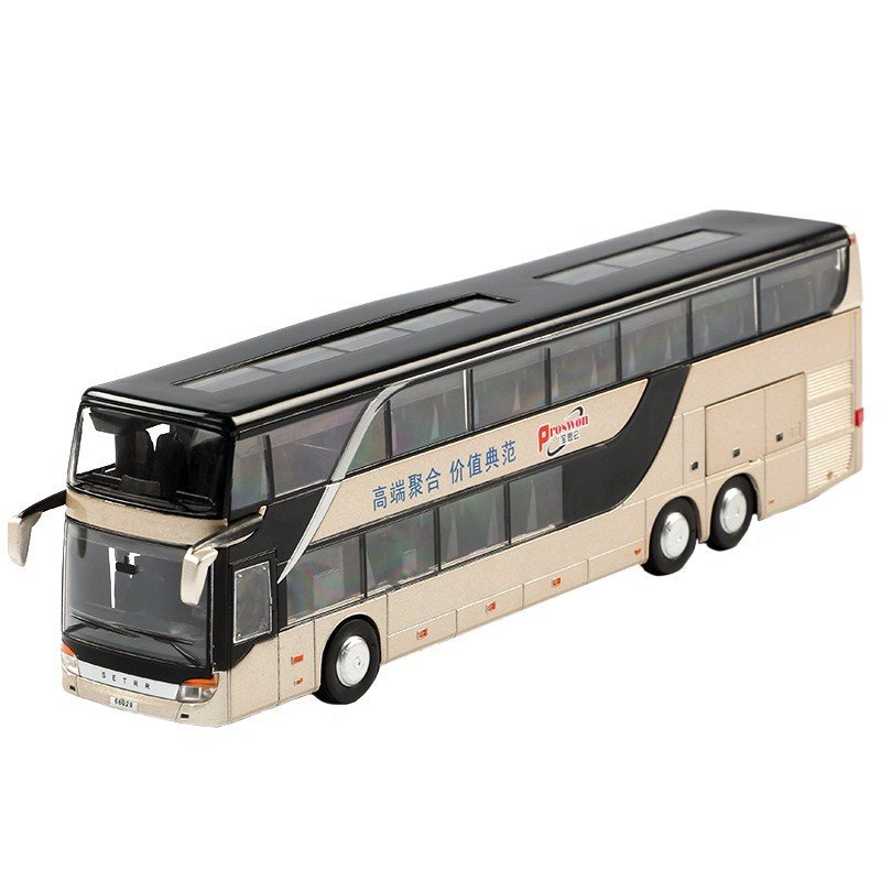 Xe buýt 12 tuổi 3 tuổi. Đồ chơi khổng lồ mô hình số 6 tuổi hợp thời trang nhạc trẻ xe bền màu xanh.