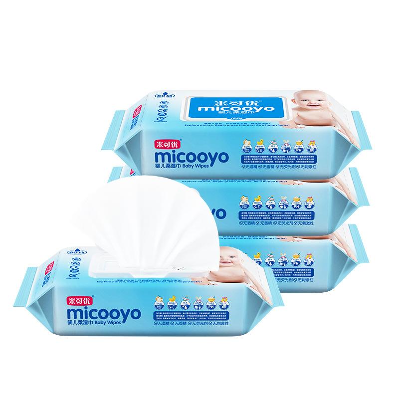 MIKEYOU Khăn ướt Nhà máy sản xuất trực tiếp 80 miếng khăn lau tay không mùi thơm dành cho người lớn