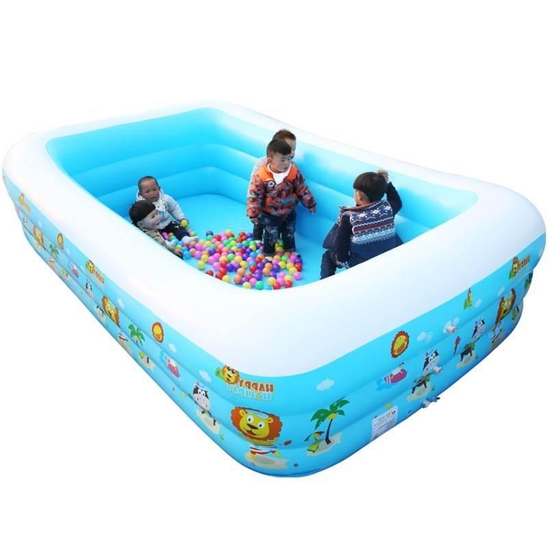 bể bơi trẻ sơ sinh 1-3-6-8 tuổi trẻ em bể bơi trẻ em di sản nhà trẻ Baby tôm bơm hay nghịch nước ngo