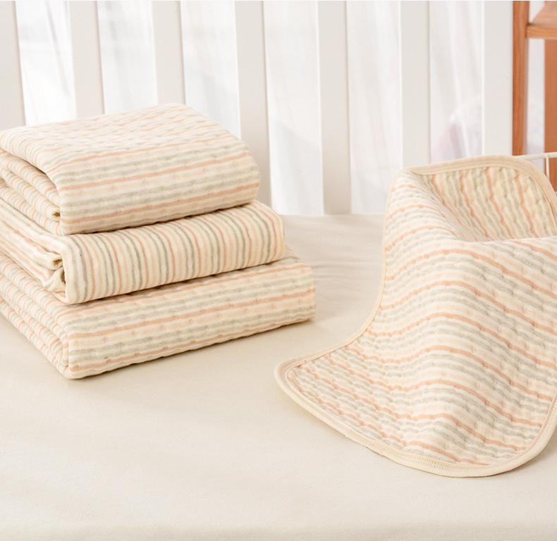 BAOYUE Tấm lót chống thấm Tấm cách nhiệt cho bé Tấm cách nhiệt cotton màu cho bé Bốn lớp chống thấm